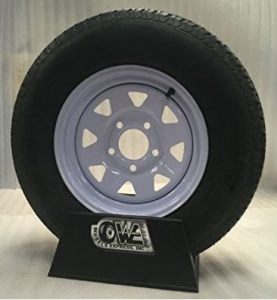 13 White Spoke Trailer Wheel with Radial ST175 80R13 Tire