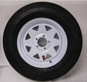 15 White Spoke Trailer Wheel with Bias ST205 75D15 Tire